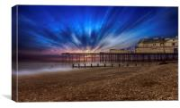 SUNSET PIER, Canvas Print