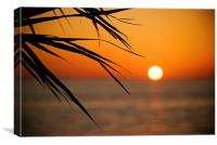 Sunset in Cyprus, Canvas Print
