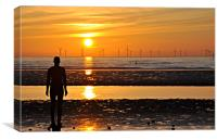another place anthony gormley, Canvas Print