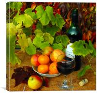 frut and wine, Canvas Print