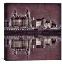 The Three Graces reflected, Canvas Print