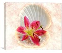 diamonds flowers and pearls, Canvas Print