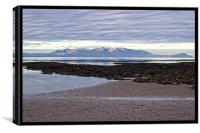 Morning glow over Arran, Canvas Print