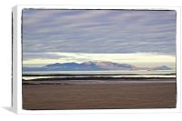 Arran from Troon, Canvas Print