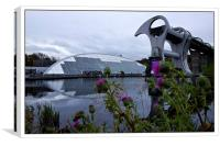 Thistle be the Falkirk wheel then, Canvas Print