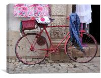 Pink Pedal Power, Canvas Print