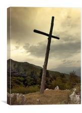 Old Wooden Cross, Canvas Print