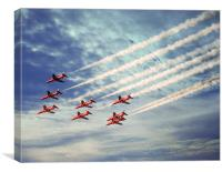 Red Arrows At 50, Canvas Print