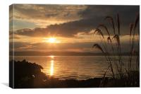 Sunset over Kintyre, Canvas Print