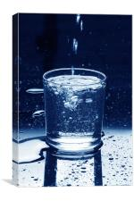 water glass filling, Canvas Print