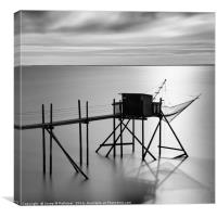 fishing cottage, Yves, France, Canvas Print