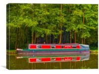 Pyrford Canal Boat, Canvas Print