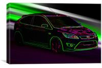 neon ford focus ST, Canvas Print