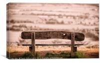 Bench on the Hill, Canvas Print