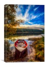Boat on Loch Scoly , Canvas Print