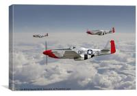 P51 Mustang - 334th Fighting Eagles, Canvas Print