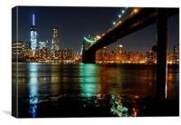 View of Manhattan from Brooklyn, Canvas Print