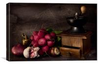 Garlic and Radishes, Canvas Print