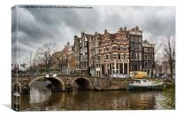 Amsterdam in December, Canvas Print