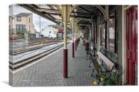 Porthmadog Train Station, Canvas Print