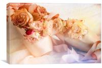 Roses and Dance Shoes, Canvas Print