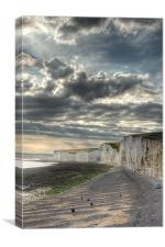 The  Seven Sisters, Eastbourne, Canvas Print