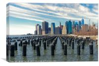Lower Manhattan from Brooklyn Bridge Park, Canvas Print