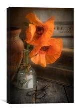 Two Poppies in a Vase, Canvas Print