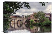 Elvet Bridge Durham 3, Canvas Print
