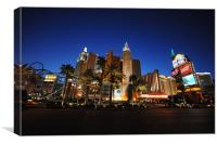 New York New York Las Vegas, Canvas Print