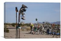 Shoe Tree, Rice, California, Canvas Print