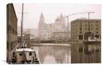 Albert Dock Liverpool England., Canvas Print