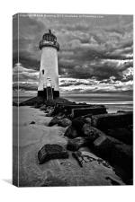 Talacre lighthouse in bw, Canvas Print