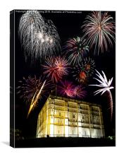 Fireworks over Norwich Castle, Canvas Print