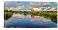 Topsham Lock Cottage, Canvas Print