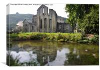 Valle Crucis Abbey, Canvas Print
