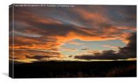 Sunset over the Ythan, Canvas Print