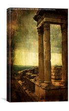 Dramatic Acropolis, Canvas Print