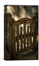 Wooden Gate, Canvas Print