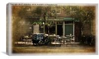 Cafe in York, Canvas Print