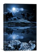Dovestones night sky, Canvas Print