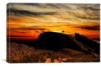 Back Tor Sun Rise, Canvas Print