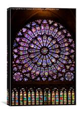 The North Rose window of Notre Dame, Canvas Print