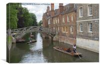 Punting on the Cam, Canvas Print
