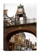 Eastgate and Eastgate clock Chester, Cheshire, U.K, Canvas Print