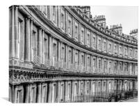 Bath's Georgian Architecture, The Circus, Canvas Print