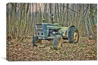 Tractor In The Woods, Canvas Print