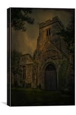 St Mary's Ruins Eastwell, Canvas Print