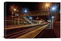 Train Now Departing, Canvas Print