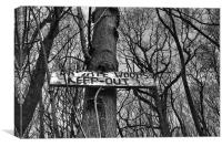 Private Woods Keep Out, Canvas Print